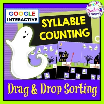 Google Classroom: Halloween Ghosts Syllable Counting