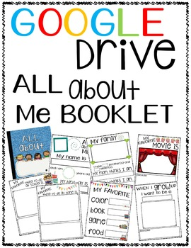 TPTDIGITAL Google Drive ALL ABOUT ME Booklet