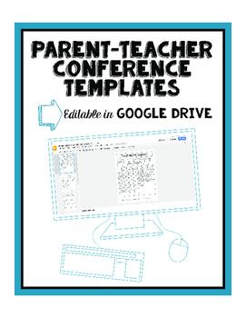 Google Drive Editable Parent-Teacher Conference Forms