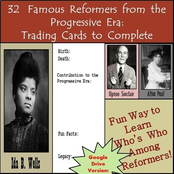 Google Drive - Famous Reformers from the Progressive Era B