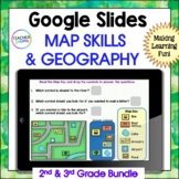 Google Classroom Map Skills and Geography Bundle
