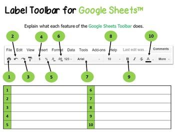 Google Drive Sheets Toolbar