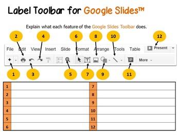 Google Drive Slides Toolbar