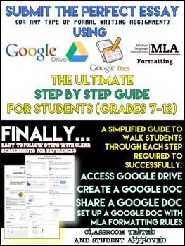 Google Drive and Docs using MLA Formatting: Step-by-step P