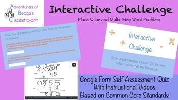 Google Form Self Assessment Interactive Challenge: Place V
