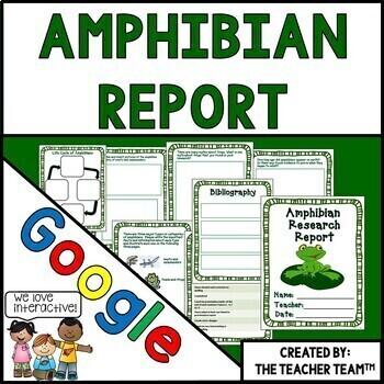 Google Drive Amphibian Report for Google Classroom