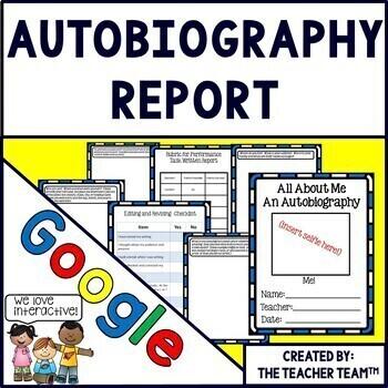 Google Drive Autobiography Report for Google Classroom