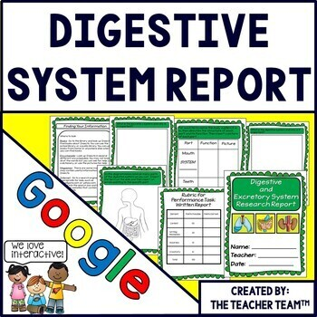 Google Drive  Digestive System Report for Google Classroom
