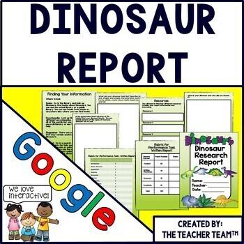 Google Drive Dinosaur Report For Google Classroom