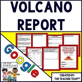 Google Drive Volcano Report for Google Classroom