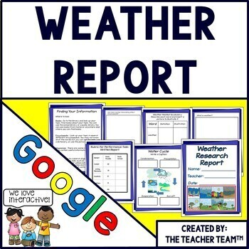 Google Drive Weather Report for Google Classroom