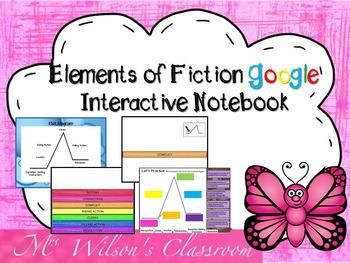Google Elements of Fiction Digital Interactive Notebook