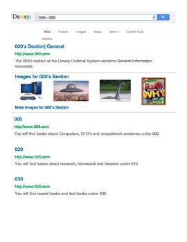 Google Search Dewey Decimal Signs