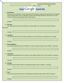 Google Search Expert Worksheet - Internet Research