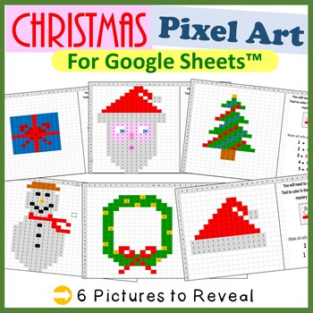 Google Sheets Christmas Mystery Pictures Fill Color - Comp