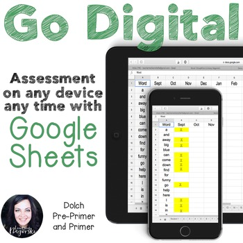 Google Sheets Digital Dolch Sight Word Assessment (Pre-Pri