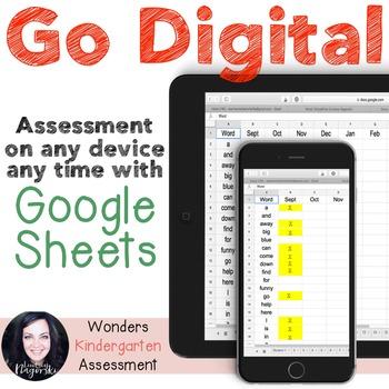Google Sheets Digital Kindergarten Sight Word Assessment (