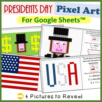 Google Sheets Presidents Day Mystery Pictures Fill Color -