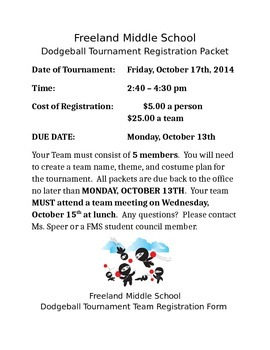 Dodgeball Tournament Registratio
