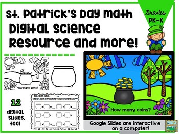 St. Patrick's Day Google Slides Interactive and Paper Pack