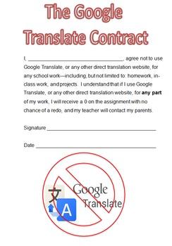 Google Translate Contract