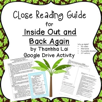 Google activity: Close Reading Inside Out and Back Again b