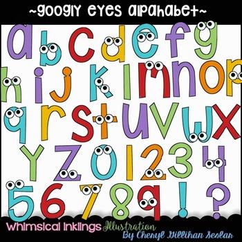 Googly Eye Alpahbet Clipart Collection