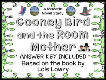 Gooney Bird and the Room Mother (Lois Lowry) Novel Study /