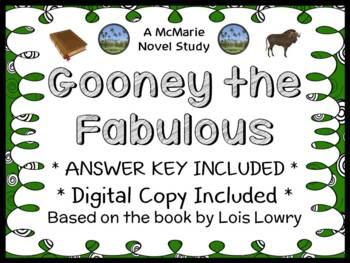 Gooney The Fabulous (Lois Lowry) Novel Study / Comprehensi