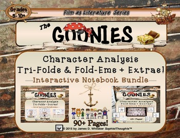 Goonies Film Character Analysis Tri-Folds and Mini Fold-Em