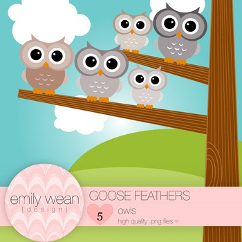 Goose Feathers - Owl Clip Art