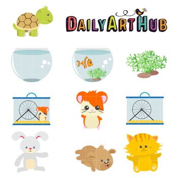 Gorgeous Animals Clip Art - Great for Art Class Projects!