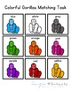Gorilla Color Matching Folder Game for students with Autism