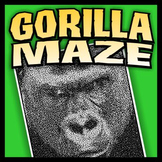 Gorilla Pictorial Maze - Intricate, full-page maze activity