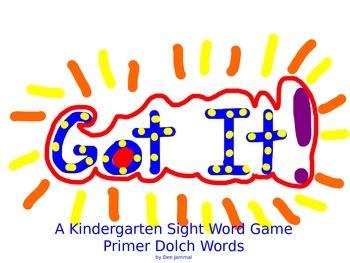 Got It!: A Dolch Primer Game
