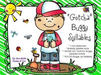 """Gotcha"" Buggy Syllable Packet"