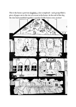 Gothic Literature - House cross section - lecture, notes,