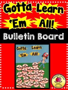 Gotta Learn 'Em All Bulletin Board Set