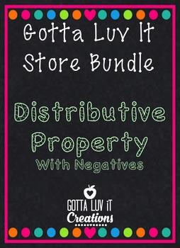 Distributive Property with Negatives Store Bundle