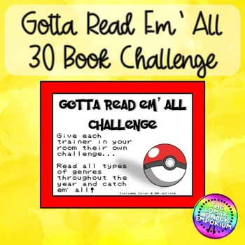 Gotta Read Em All Book Challenge