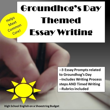 Goundhog's Day Themed Essay Writing, w Rubrics & Printables