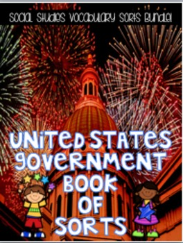 Government Book of Sorts BUNDLED! {Interactive Vocabulary Sorts}