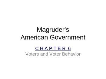 Government: Chp 6 Voter and Voter Behavior PPT