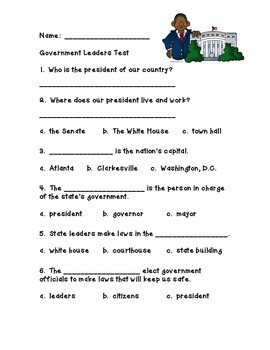 Government Leaders Test