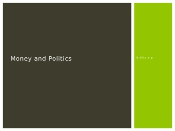 Government: Money and Politics 2015