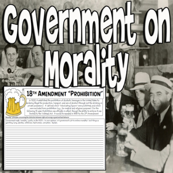 Government Morality on Prohibition