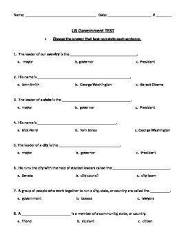 Government TEST