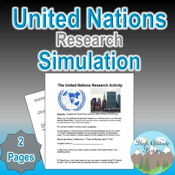 United Nations Research Project Simulation (Government / U