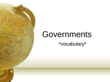 Government Vocabulary 6th gr SS GA