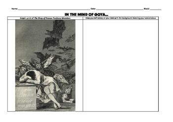 Goya Romanticism Sketch Assignment